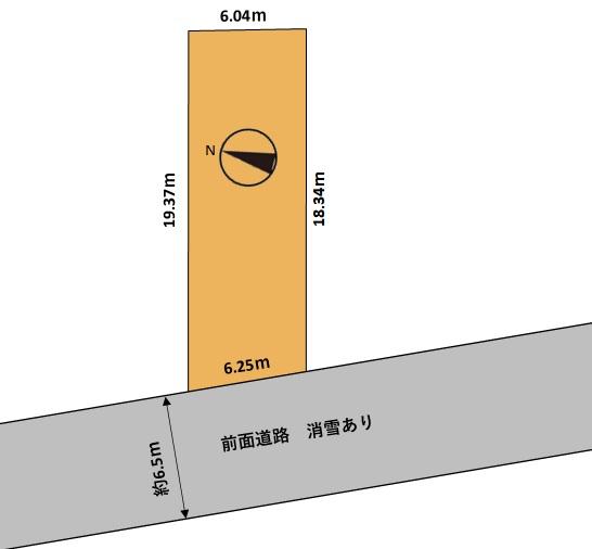 滑川市河端町売地 駅、小学校まで徒歩約10分以内の通学・通勤に便利な地域です!の間取り