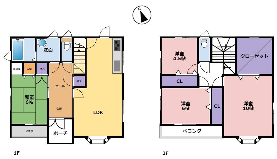 富山市奥田本町|4LDK|駅近で通勤に便利。暮らしやすい奥田地区|奥田小学校区|奥田中学校区|の間取り