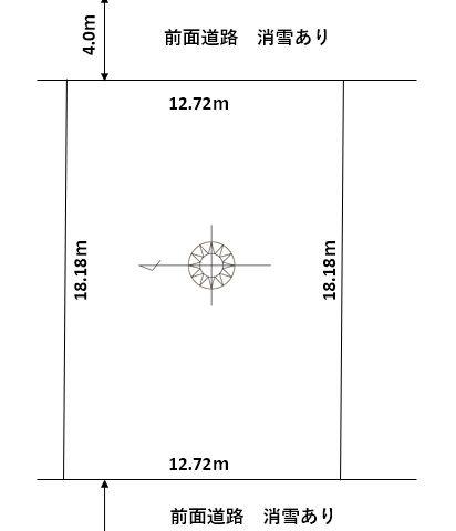 富山市向新庄|宅地|建築条件無し|二方向道路のサムネイル画像