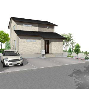 富山市黒瀬にて4LDKの新築不動産住宅を販売中です|Co.マチ黒瀬F15|床暖房・2台入カーポート付