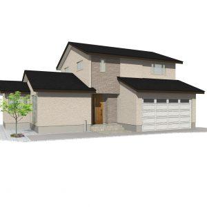 黒部市堀高にて4LDK・新築不動産住宅を販売中です|堀高F8|インナーガレージ2台分・床暖房付き