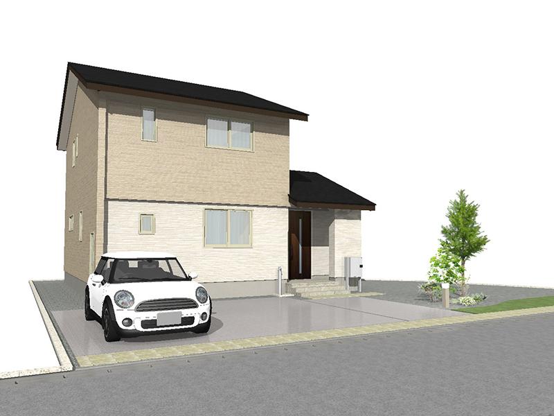滑川市上小泉にて3LDKの新築不動産住宅を販売中 Co.マチ滑川上小泉F11 プラント3近く