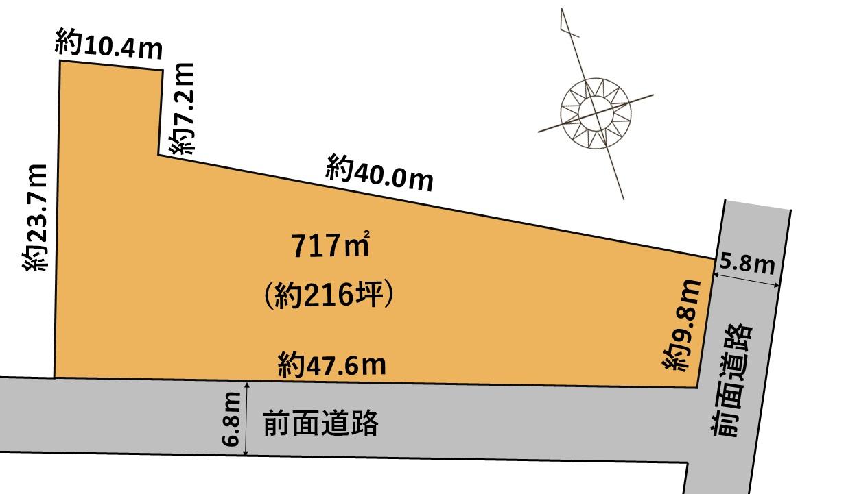 射水市鷲塚売地|約216坪売地。射水市で駐車場や空き地をお探しの方にオススメの土地です。大型トラックも複数駐車可能で、県道31号線へもアクセス良好。の間取り